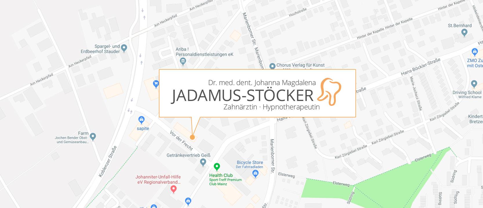 Zahnarztpraxis Jadamus-Stöcker Anfahrt